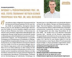 Artikel zur Praxisübernahme der Privatpraxis Rottach-Egern durch Prof. Stoffel